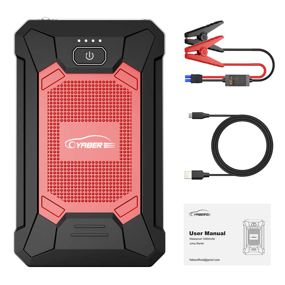 12000Mah 800A Auto Jump Starter Batterij Power Bank Draagbare Uitgangspunt Apparaat Emergency IP68 Waterdichte Auto Booster Oplader