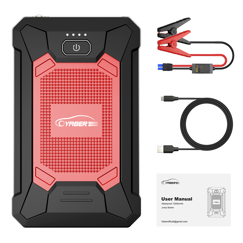 12000mAh <font><b>800A</b></font> Car <font><b>Jump</b></font> <font><b>Starter</b></font> Battery Power Bank Portable Starting Device Emergency IP68 Waterproof Auto Booster Charger image