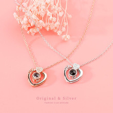 925 Sterling Silver Love Heart Necklaces for Women Wedding Jewelry Long Necklaces Statement Jewelry c quanchi woman jewelry statement necklaces