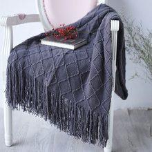 Couvertures de tricot de couverture de sieste de climatisation de bureau pour des lits couvertures tricotées à la main de couverture de Sofa