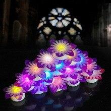 led daisy candle light holiday party mood light chrysanthemum peony flower light electronic candle