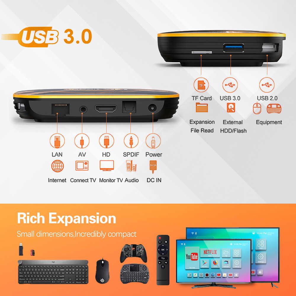 2020สมาร์ททีวีกล่องHK1 R1 Max 4GB 128GBกล่องทีวีAndroid 10 Android 10.0 Rockchip RK3318 4K 60fps USB3.0 Google Playstore Youtube