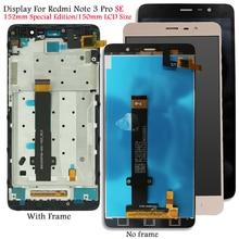 Display Per Xiaomi Redmi Nota 3 SE LCD Display Touch Screen di Ricambio per Redmi Nota 3 Pro Kate Testato schermo Lcd