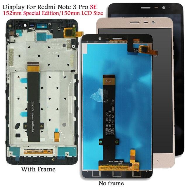 สำหรับXiaomi Redmiหมายเหตุ3 SEจอแสดงผลLCDหน้าจอสัมผัสสำหรับRedmi Note 3 Pro Kateจอแสดงผลทดสอบหน้าจอLcd