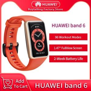 Image 1 - 100% Original Huawei Band 6 Wristbands Blood Oxygen Heart Rate Tracker 1.47 inch AMOLED Smartband