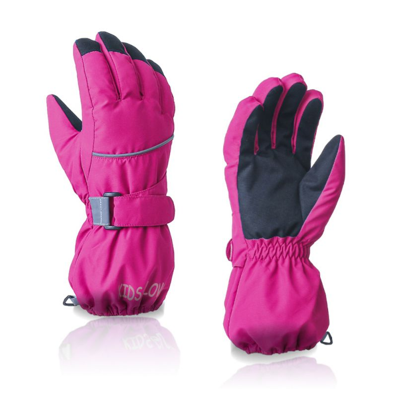 Boy Girl Chidren Kids Ski Gloves Snowboard Gloves Motorcycle Winter Skiing Climbing Waterproof Snow Gloves