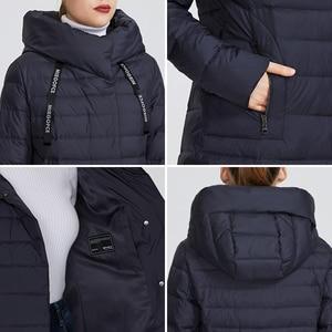 Image 5 - MIEGOFCE 2019 חדש חורף נשים של אוסף של מעיל באורך הברך Windproof נשים של מעיל עם Stand Up צווארון הוד Parka