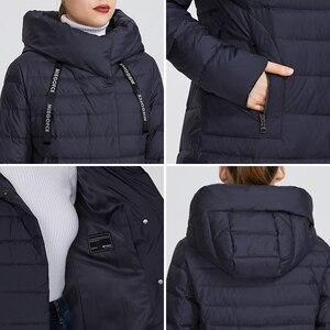 Image 5 - MIEGOFCE 2019 Новая зимняя женская коллекция курток длина до колен ветрозащитный женская куртка со стоячим воротником и капюшоном имеет наладные карманы на молнии двойная защита от холода на молнии и на застежках