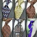 Impresso multicolorido dos homens gravatas vintage 100% seda impressão frete grátis nobre artesanal original casual festa de casamento