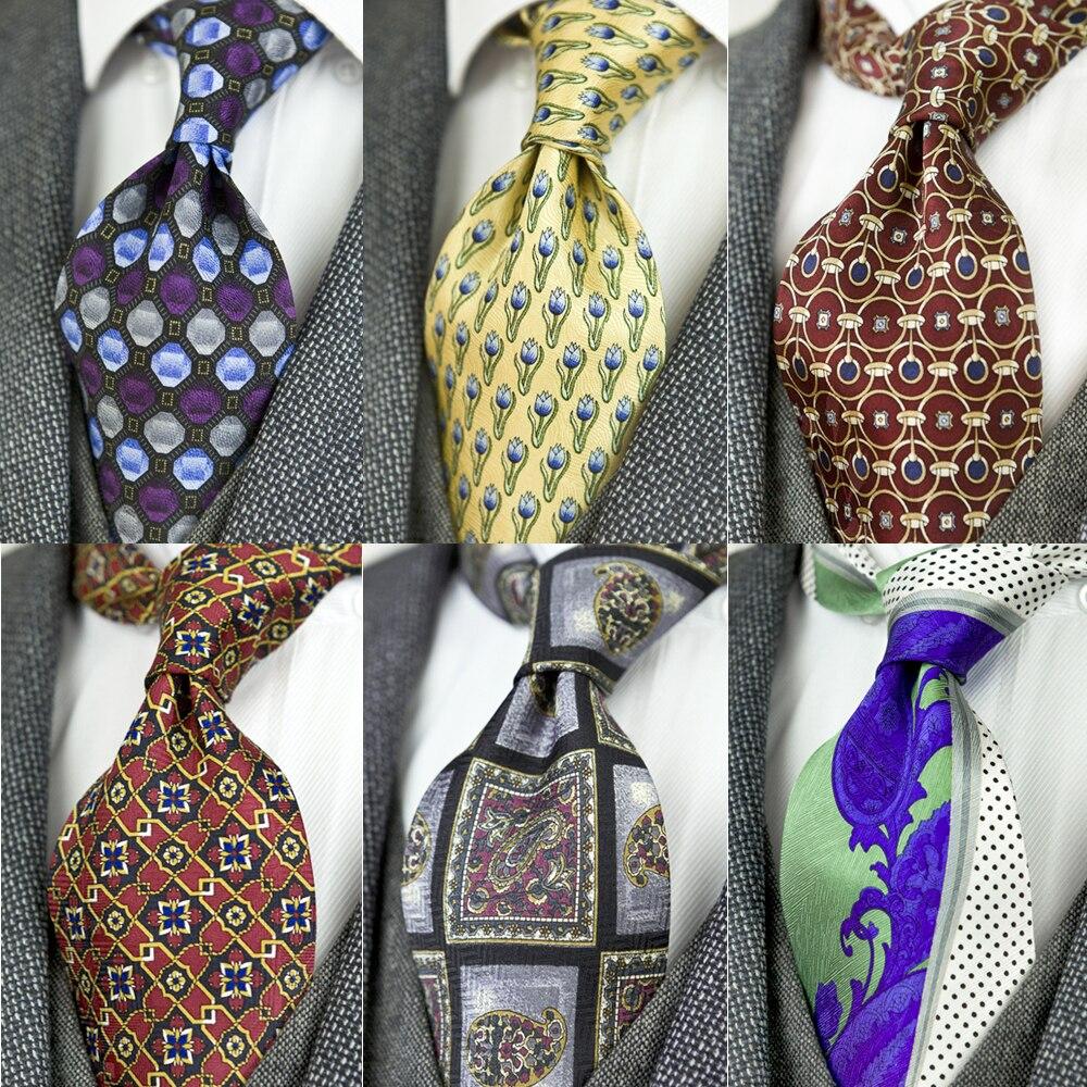 Printed Multicolor Mens Ties Neckties Vintage 100% Silk Printing Free Shipping Noble Handmade Unique Casual Party Wedding