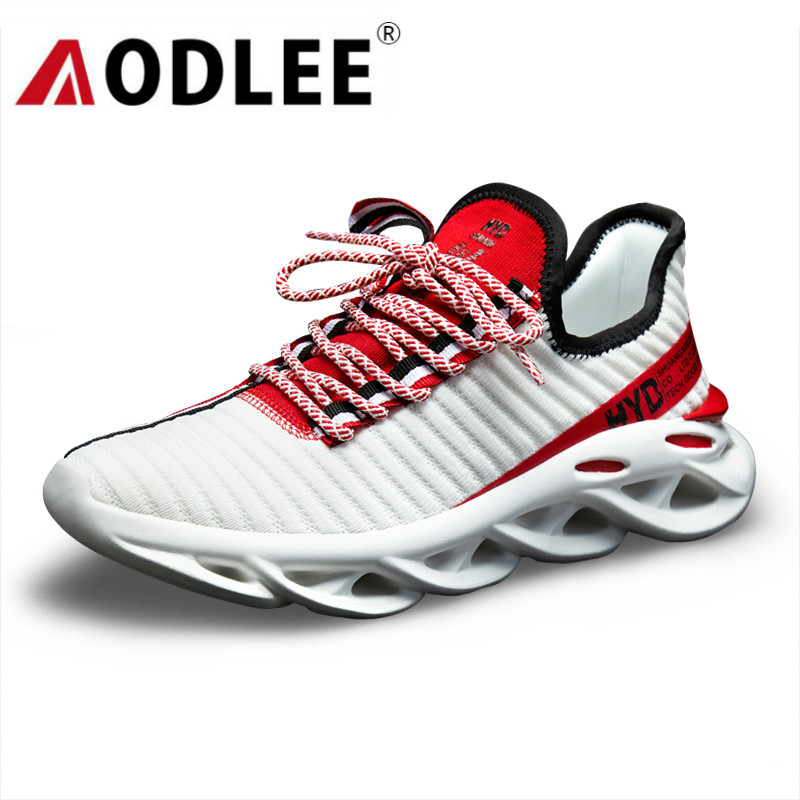 Sneakers Men Casual Shoes Fashion Breathable Men Flyknit Shoes Light Running Shoes Summer Men Sport Shoes Dropshipping AODLEE