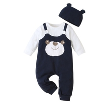 Jumpsuit Toddler Long-Sleeve Panda-Print Baby-Boys Outfits Romper Newborn Infant Cotton