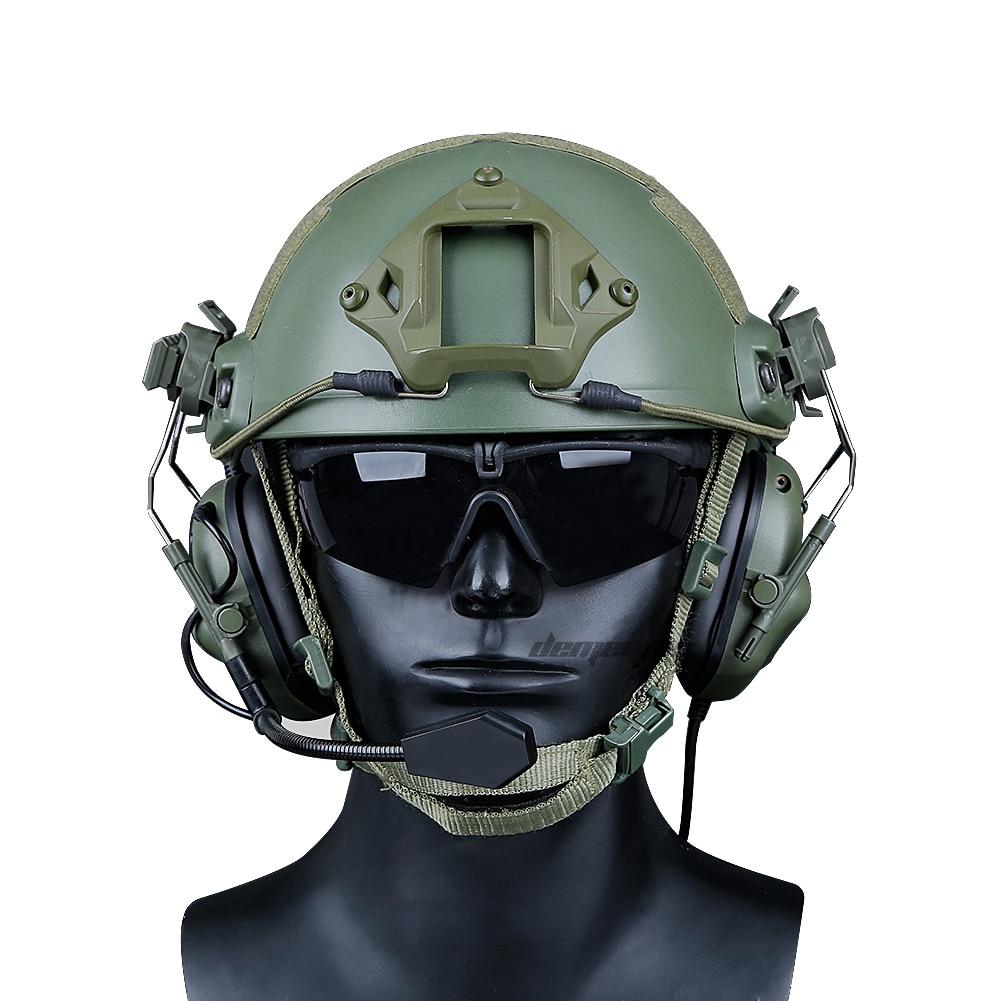 fones de ouvido combate cs wargame acessórios