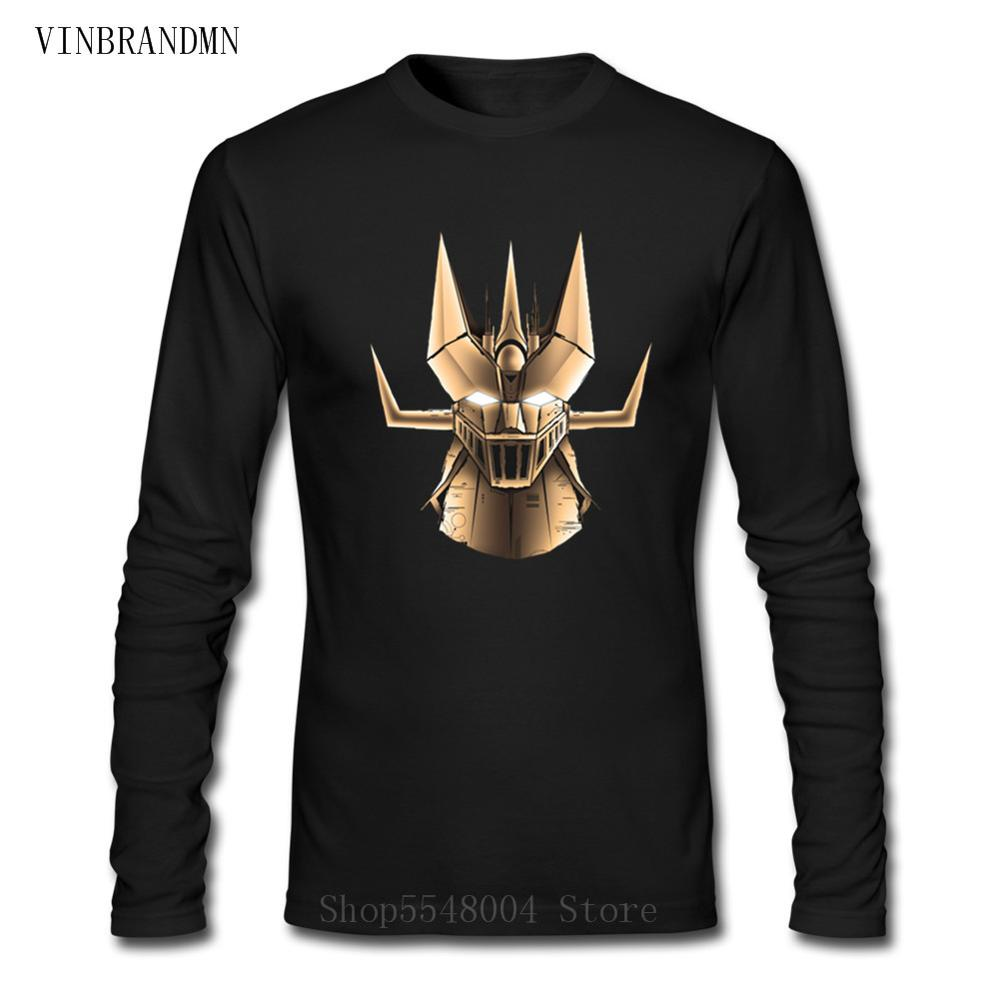 2020 Ufo Robot Grendizer <font><b>Mazinger</b></font> <font><b>Z</b></font> <font><b>T</b></font> <font><b>Shirt</b></font> New Men O-neck <font><b>T</b></font>-<font><b>Shirt</b></font> Long Sleeves Summer Cotton Tshirt Cartoon Tops Tees Camisetas image
