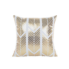 Korean style luxury golden sofa cushion cover 45*45cm geometryic no inner hot stamping covers decoration X12