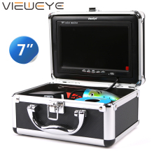 ViewEye рыболокатор подводная рыболовная камера 7 дюймов 1000TVL Водонепроницаемая Видео подводная камера 12 шт инфракрасная лампа для подледной рыбалки