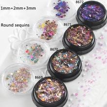 Colorful Confetti Glitter Iridescent Circle Flakes Aurora Borealis Sprinkles Kawaii Resin Art Supplies Jewelry Supplies