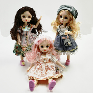 Image 4 - New 1/6 Princess Dressup Doll BJD 26cm Beautiful Girl Doll with Dress