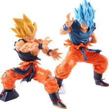 Dragon ball z super saiyan deus azul gokou super masterlise son goku figura de ação pvc collectible modelo brinquedo(China)