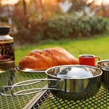 1Pc Outdoor Camping Pots Practical Cook Utensils Camping Cookware Pot Bowl