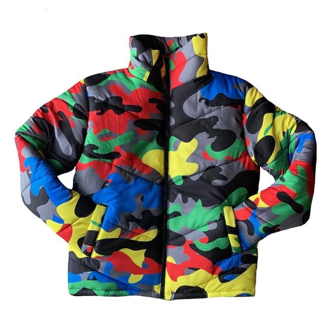 2019 camouflage impression hiver veste femmes Festival chaud Parka bas bulle manteau haut chaud épais Parka Couple porter culture bouffante veste 4XL 6