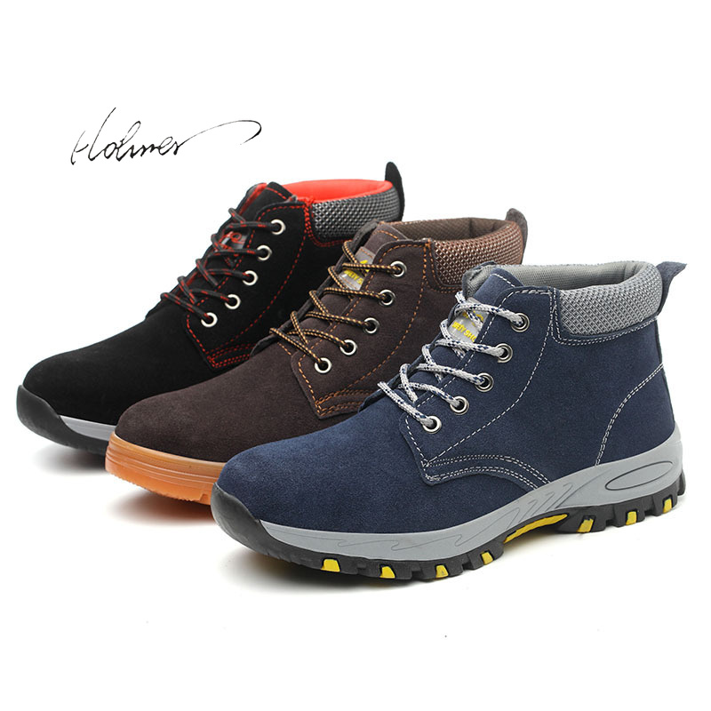 Safety Shoes Ankle Anti-smashing Wilderness Survival Steel Mid-plate Safty 38-46 Size