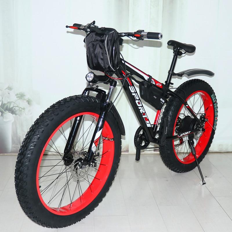 Новый Электрический снегоход 48 в 1000 Вт, мощный горный велосипед, литиевый электрический велосипед, электрический велосипед, фэтбайк
