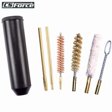 7pcs/Set Universal Gun Cleaning Kit for 38/357/9mm Pistol Barrel Rod Brush Pocket Size Professional Hand Gun Cleaning Tools Set