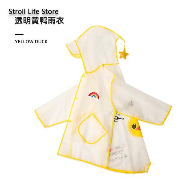 Cute Girl's Waterproof Raincoat Kids Rain Poncho Pink Dinosaur Long Clear Rain Coat Jacket Capa De Chuva Rain Suit Gear Gift 5
