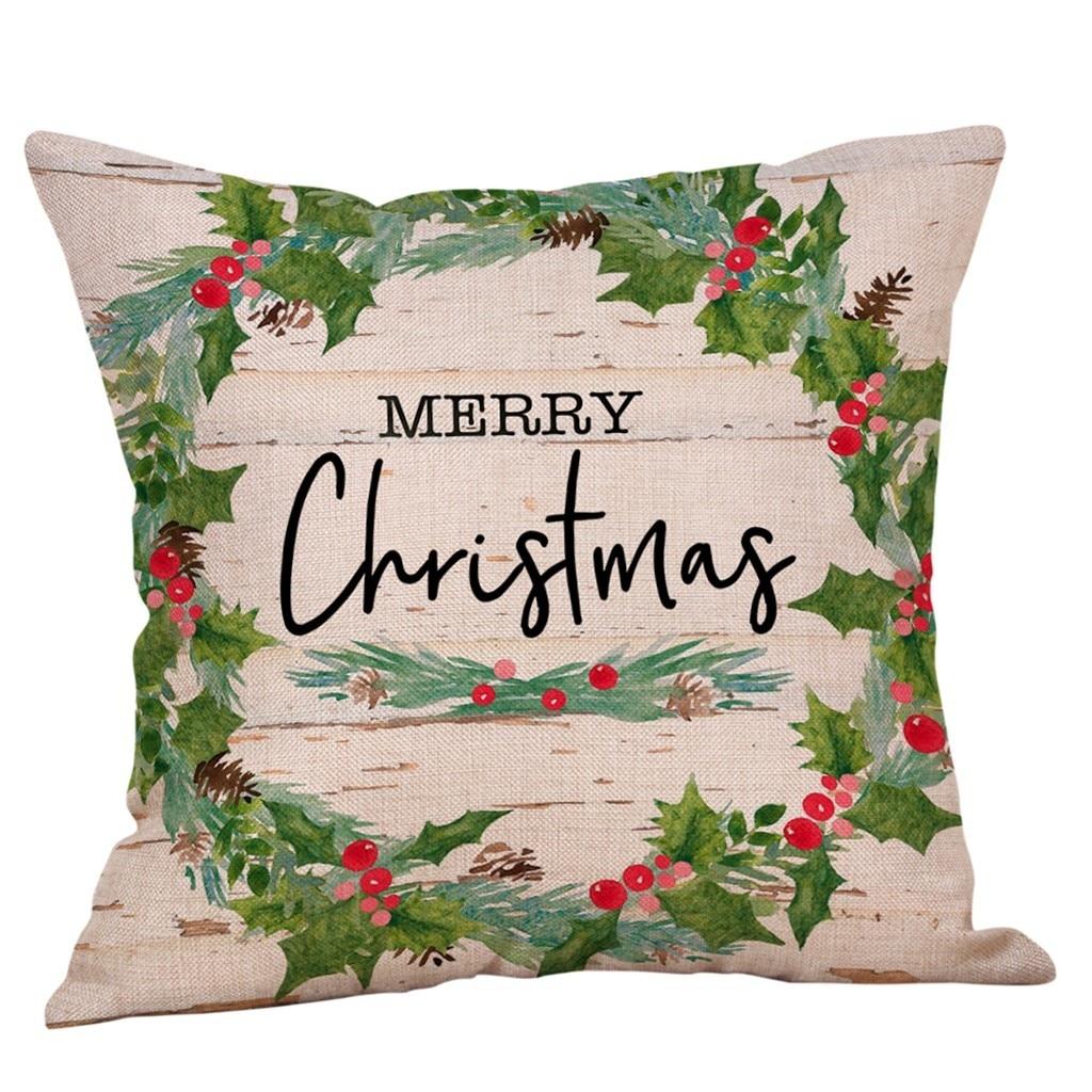"""18/"""" хлопок лен Рождество Рождественский носки подушка наволочка чехол на подкладываемую подушку домашний декор"""