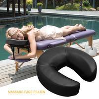 Мастер массаж Универсальный подголовник подушка для лица/Подушка для массажного стола-черный # 4O