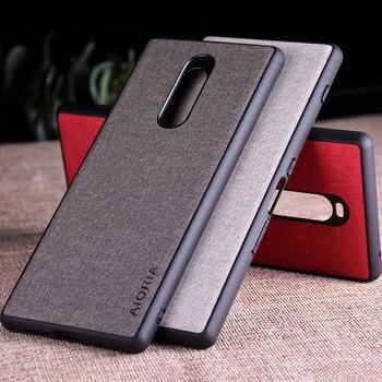 Перейти на Алиэкспресс и купить Чехол для Sony Xperia 1, роскошный текстильный кожаный чехол из мягкого ТПУ, Жесткий Чехол для телефона sony Xperia 1, чехол funda capa
