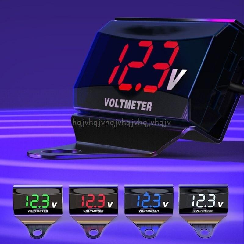8V-150V LED Digital Display Voltmeter Car Motorcycle Voltage Volt Gauge Panel Meter With Bracket S05 19 Dropship