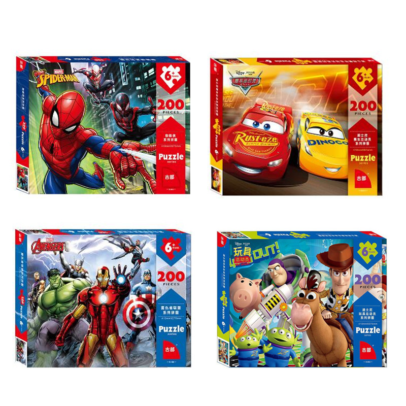 Genuine Toy Story 4 Marvel Avengers Spider-Man Puzzle 200 Pieces Super Heroes Puzzle Games Adults Teenagers Kids Childen Toys