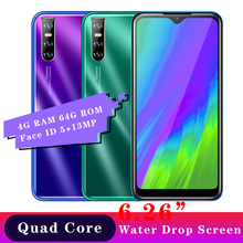 M9 6 26inch Water Drop screen 13MP 4G RAM 64G ROM Smartphones Android Mobile Phones Face id Unlocked Cheap Celulares Wifi 2SIM cheap BYLYND Detachable 64GB Face Recognition Up To 48 Hours 3200 Adaptive Fast Charge Smart Phones Bluetooth 5 0 Capacitive Screen