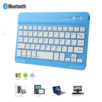 цена на Bluetooth Wireless Keyboard 78 Key PC Office Computer Keybord Ultra Slim Small Mini Portable BT Keypad For iPhone iPad Apple Mac