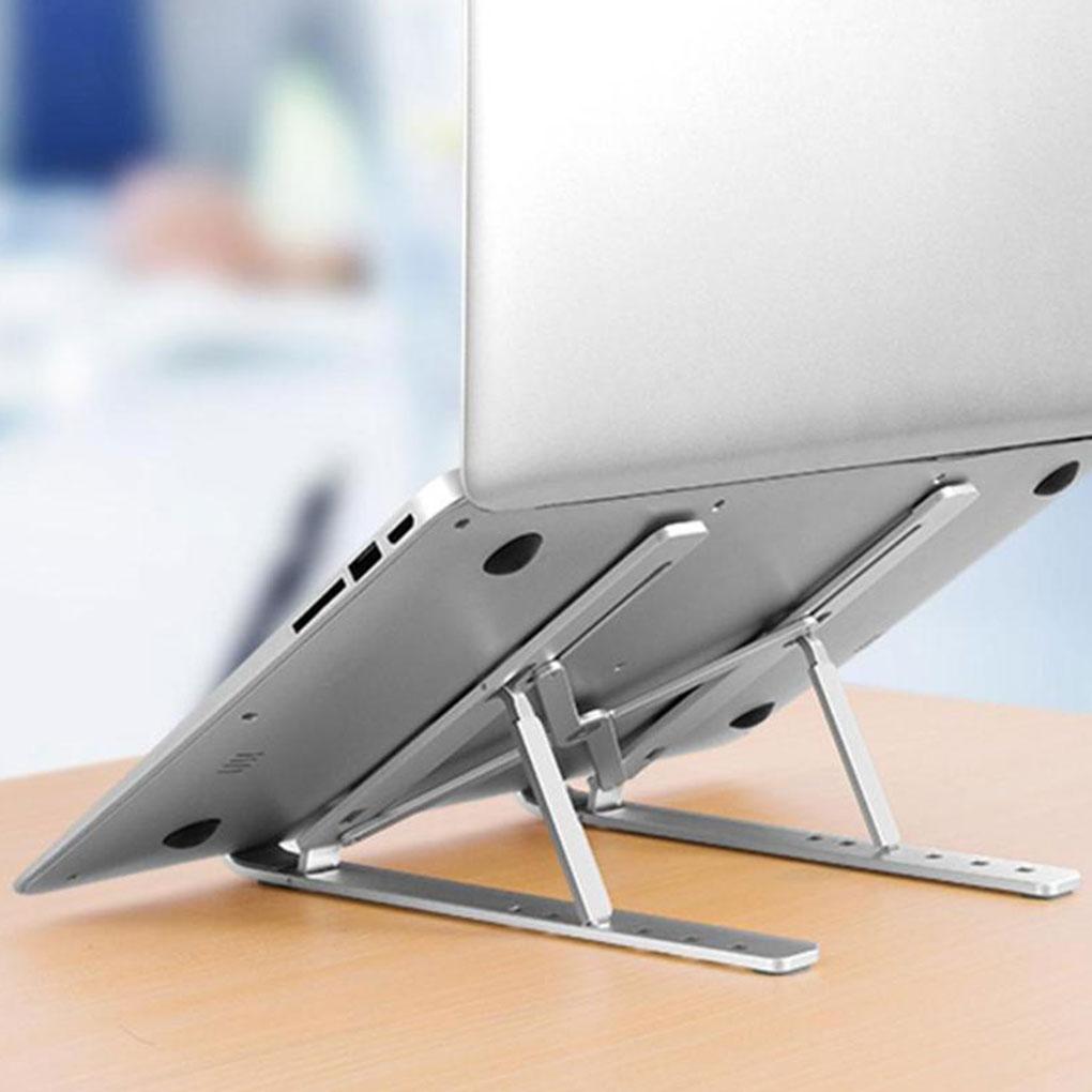 Держатель для ноутбука из алюминиевого сплава, регулируемая складная портативная подставка для ноутбука, подъемный охлаждающий держатель, нескользящая подставка Подставка для ноутбука      АлиЭкспресс