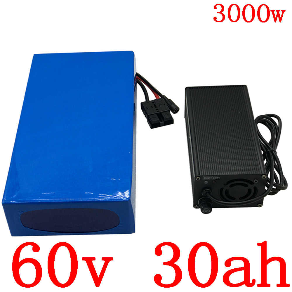 60v 30ah lithium battery 60V 30AH electric bicycle battery 60V 30AH 2000W 2500W 3000W scooter battery with 60A BMS+5A charger