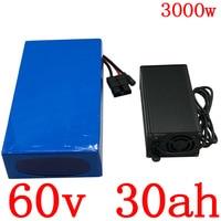 60v 30ah lithium batterij 60V 30AH elektrische fiets batterij 60V 30AH 2000W 2500W 3000W scooter batterij met 60A BMS + 5A charger