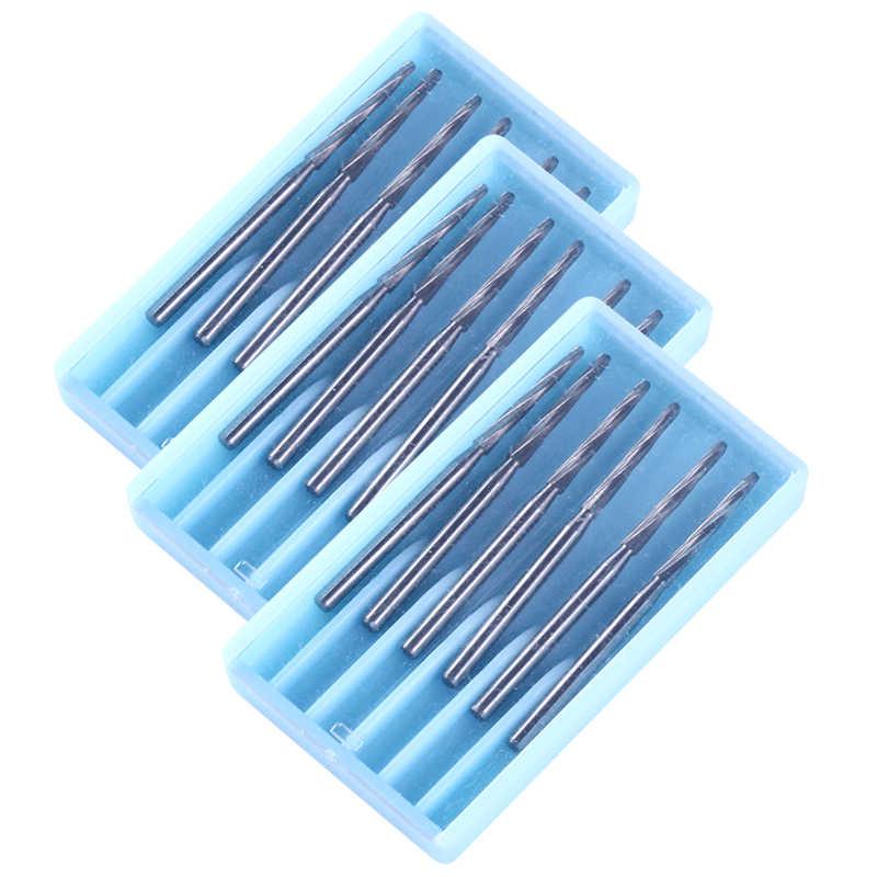 6 יח'\קופסא שיניים מקדחות מעבדה טונגסטן פלדת קרביד Burs שיניים קליני Zekrya FG גמר Burs גבוהה מהירות חותכי 28mm מכירה