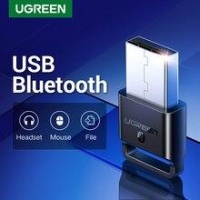 Ugreen adaptador usb bluetooth 4.0, transmissor e receptor sem fio dongle para pc com windows 10 8 7 xp bluetooth stereo fone de ouvido