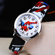 3D Rubber Strap Spiderman Children Watch Kids Cartoon Sports