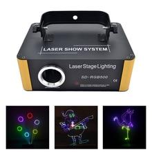 SD Card Program 500mW RGB Laser Remote Animation Scan Projector Stage Lighting Xmas DJ Party Led DMX Bean Light Scanner ILD File