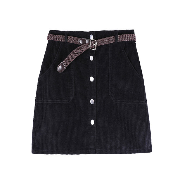 Corduroy Skirt With High Waist Ladies Mini Skirts