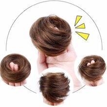 Бразильские волосы remy волосы булочка эластичные Пончики волосы сумка человеческие волосы шиньон булочка шиньон волосы шиньон вплетаемые части