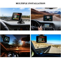Hot P16 3 Inch LCD HUD obd2 Car Head Up Display Car Intelligent Trip Computer Car Speedometer Hud Display Car electronics