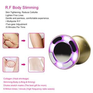 Image 4 - Led rf ultra sônico cavitação rádio frequência ems, massageador emagrecedor do corpo anti celulite massagem queimador de gordura perda de peso cuidados