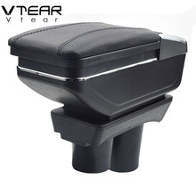 Vtear For Peugeot 301/citroen C-elysee Armrest Interior Center Console Storage Box Arm Rest Car-styling Decoration Accessories
