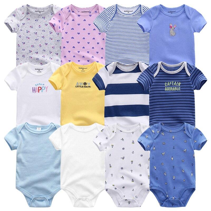 Uniesx Newborn Baby Rompers Clothing 7Pcs/Lot Infant Jumpsuits 100%Cotton Children Roupa De Bebe Girls&Boys Baby Clothes