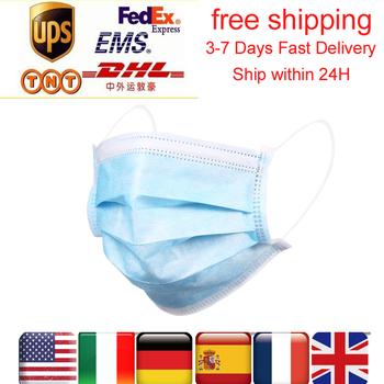Z nami CZ magazynie 24H wysyłka 50-200 pcs jednorazowe respirator maska z filtrem 3-ply miękkie oddychające ochronne mascarillas masque tanie i dobre opinie KKMOON NONE Chin kontynentalnych Face Mask Disposable